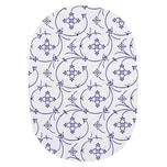 """Ricolor 15076 Frühstücksbrettchen oval """"Indisch Blau"""", HPL, 24x17cm, blau/weiß"""