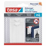 tesa 77776 Powerstrips Klebenagel für Tapeten & Putz 2 kg weiß 2er Pack