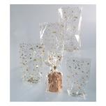 Folia Zellglasbeutel mit goldenem Weihnachtsdruck, 10 Beutel, 115x190mm, transparent (1 Stück)