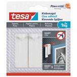 tesa 77773 Powerstrips Klebenagel für Tapeten & Putz 1 kg weiß 2er Pack