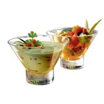 "Bormioli Rocco 4680432 Eis-/Dessertschale ""Ypsilon"", 375 ml, klar 2er Pack"