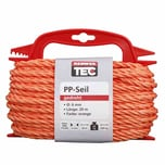 REWWER-TEC 435-961 PP-Seil 6mm 20m gedreht orange a.Haspel (1 Stück)