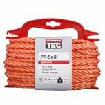 REWWER-TEC 435-961 PP-Seil 6mm 20m gedreht orange a.Haspel, orange (20 m)