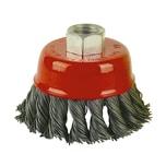 Easy Work 74000 Topfbürste für Winkelschleifer, M14, 65 mm, rot/grau