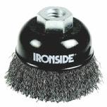 Ironside 243-009/613162 Topfbürste 75mm M14 0,3mm gewellt, für Winkelschleifer, schwarz/grau