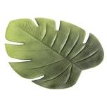 "Boltze 1002856 Tischset ""Blatt Ficus"" Kunststoff, 48 x 38 cm, grün"