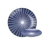 GUSTA 02265910 OTB Stripes Frühstücksteller Teller flach ø 20cm, blau/weiß