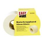 Easy Work Maler-Kreppband, 50mm breit, 50m auf Rolle, gelb (50 m)