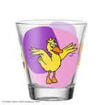 LEONARDO 021420 Bambini Die Maus Kinderbecher Motiv Ente, Glas, 215 ml, kindgerechte Form, gelb/lila/pink