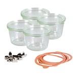 WECK 741805 Sturzglas mit 250 ml Nennvolumen 75 cm hoch klar 4er Pack