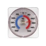 TFA 14.6001 Fensterthermometer zum Schrauben und Kleben, 50 bis -50 °C, 7,5 cm