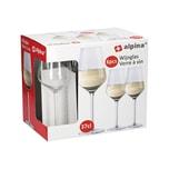 Alpina 86430 Weissweinkelch 370 ml Glas klar 6er Pack