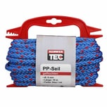 REWWER-TEC 435-970 PP-Seil 8mm 10m gefloch. a.Haspel, blau/rot (1 Stück)