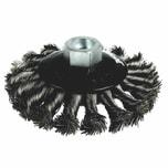 Ironside 243-000/631151 Scheibenbürste 115mm/22,2 gezopft, für Winkelschleifer, grau