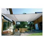 EDUPLAY 160097 Sonnenschutz Sonnensegel, 6x4m, Rechteck, grau (1 Stück)