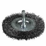 Ironside 243-020/600521 Scheibenbürste100mm 0,3mm gewellt, 6mm-Schaft, grau
