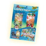 Folia Ausmal Laternen Bastel Set, Dschungel & Igel, mehrfarbig, 222-teilig (1 Set)