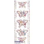 """EDUPLAY 360048 Glitzersticker """"Bunte Schmetterlinge"""" 27 x 10 cm, 15-teilig (1 Set)"""