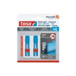 tesa 77778 Powerstrips Klebenagel für Tapeten & Putz Leinwand & Keilrahmen verstellbar 1 kg weiß/blau 2er Pack