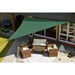 EDUPLAY 160027 Sonnenschutz Sonnensegel, 5x5x5m, Dreieck, grün (1 Stück)