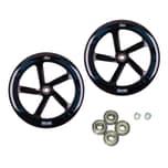 HUDORA Ersatzrollenset für Big Wheel 205 205 mm Ø schwarz für Modell 14784, schwarz (1 Set)