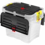 Heidrun Dragon Box 3 x 15 Liter, transparent/schwarz (3er Pack)