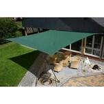 EDUPLAY 160026 Sonnenschutz Sonnensegel, 5x5m, Quadrat, grün (1 Stück)