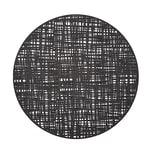 Zeller Present 27007 Scribble Tischset PVC Ø 38 cm schwarz 1 Stück