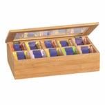 Kesper Teebox mit 10 Fächern Bambus