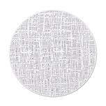 "Zeller Present 27008 Tischset ""Scribble"" ø 38 cm weiß 1 Stück"