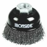 Ironside 243-008 Topfbürste 65mm M14 0,3mm gewellt, für Winkelschleifer, grau