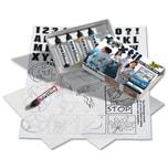 Folia Funny Color Textil Starter-Kit, mehrfarbig, 5-teilig (1 Set)