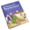 Bauernhof für Kinder inkl. Adventskalender mit 24 Holzfiguren, hochwertigem Spielkoffer und weihnachtlicher Tier-Geschichte, mehrfarbig, 27-teilig (1 Set)