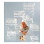 Folia Zellglasbeutel mit weißem Spitzendruck, 95 x 160 mm, transparent (10 Stück)