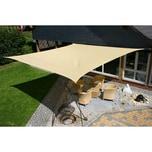EDUPLAY 160009 Sonnenschutz Sonnensegel, 5x5m, Quadrat, beige (1 Stück)