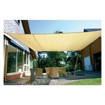 EDUPLAY 160070 Sonnenschutz Sonnensegel, 6x4m, Rechteck, beige (1 Stück)