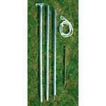 EDUPLAY 160054 Abspannmast, Stahl, Zubehör für Sonnenschutz Sonnensegel, silber, 6-teilig (1 Set)
