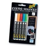 Folia Kreide Marker, Strichstärke 1-2 mm, mehrfarbig, 5-teilig (1 Set)