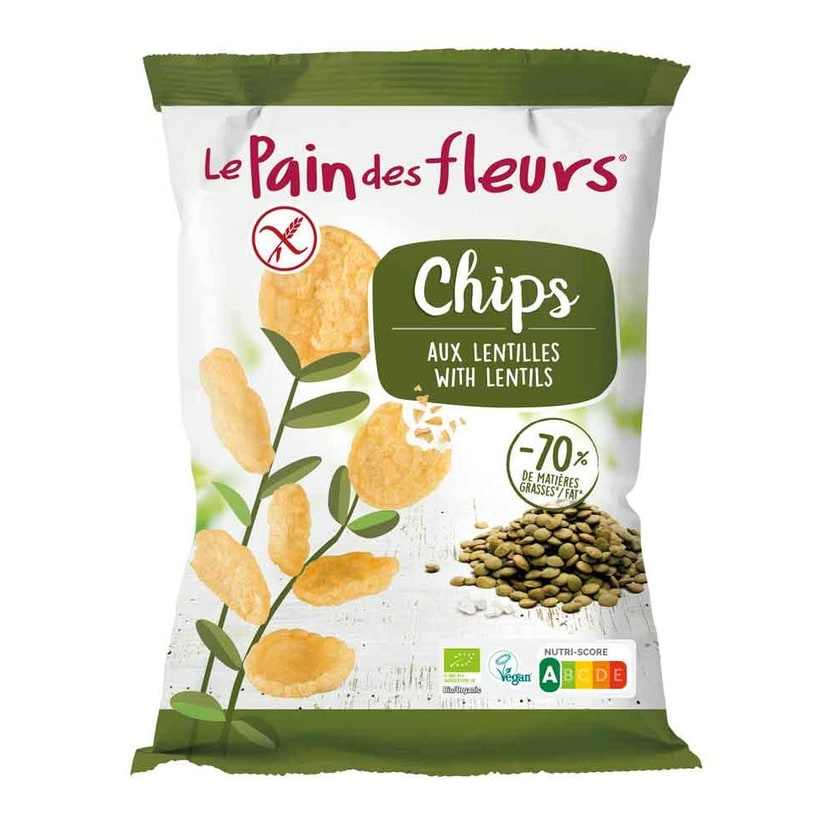 Blumenbrot Chips grüne Linse bio 50g