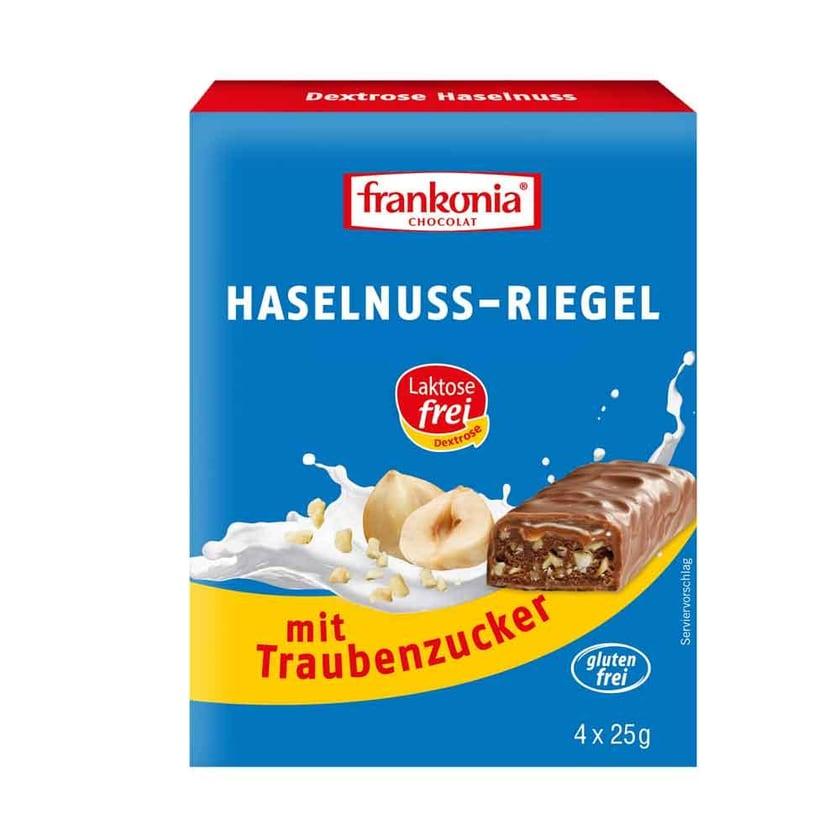 Frankonia Dextrose Haselnuss-Riegel 4x25g
