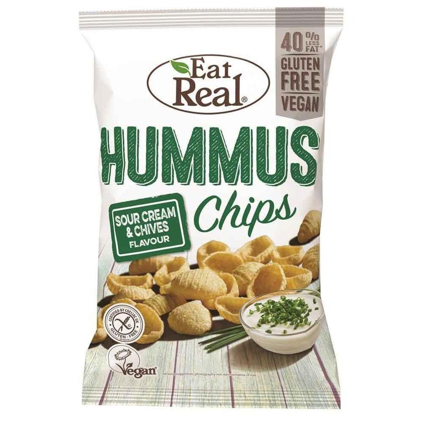 Eat Real Kichererbsen Chips Sour Cream & Schnittlauch 135g