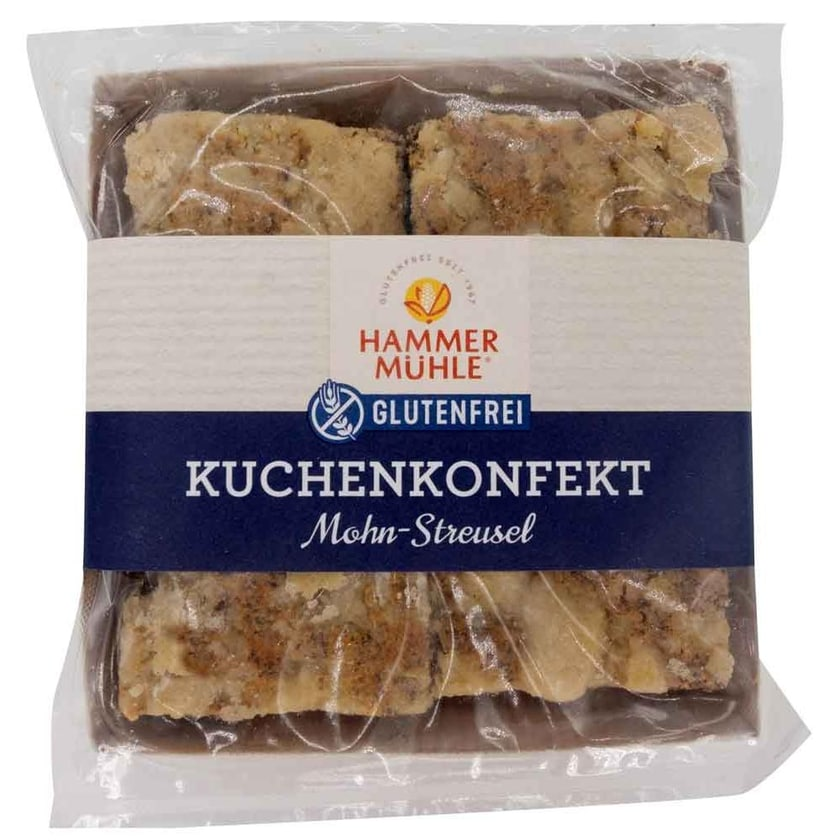 Hammermühle Kuchenkonfekt Mohn-Streusel 180g