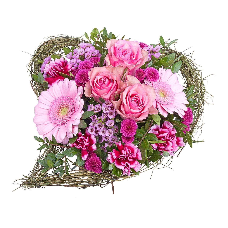 Blumenstrauß Von Herzen herzförmig und farbenfroh