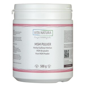 Vita Natura MSM Pulver (Methylsulfonylmethan) 500 g