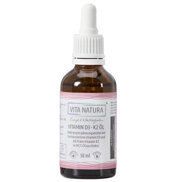 Vita Natura Vitamin D3 1000 I.E. + K2 20 mcg Tropfen 50 ml