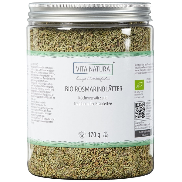 Vita Natura Rosmarinblätter Bio 170 g