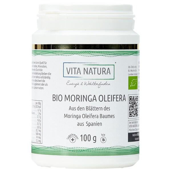 Vita Natura Moringa Oleifera Blattpulver Bio 100 g