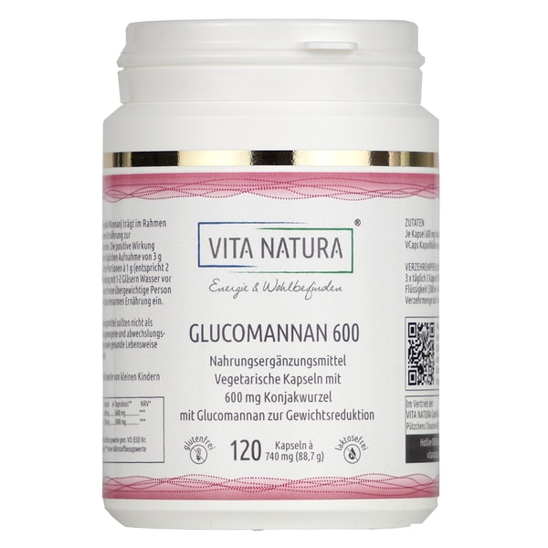 Vita Natura Glucomannan Vegikapseln 600 mg 120 Stk.