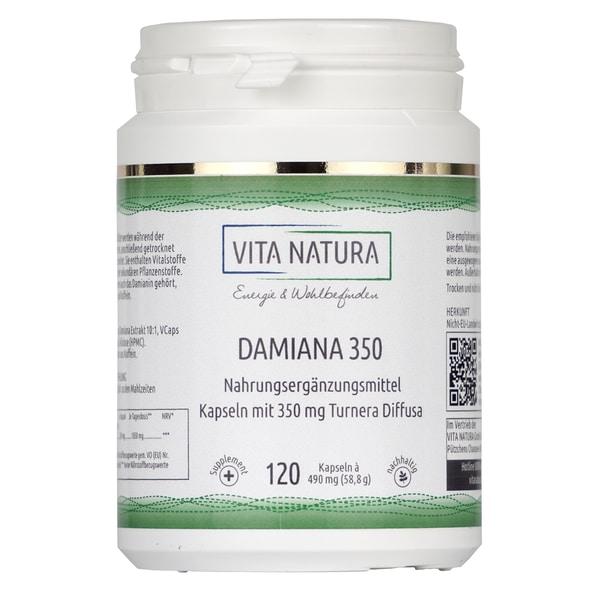 Vita Natura Damiana Vegikapseln 350 mg 120 Stk.