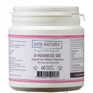 Vita Natura D-Mannose Kapseln 500 mg 60 Stk.